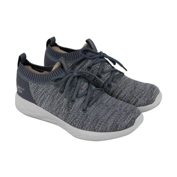 Skechers Gorun 600 Utilize Mens Gray Textile Athletic Training Shoes