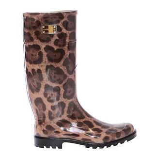 Dolce & Gabbana Leopard Rubber Rain Boots Shoes - 41
