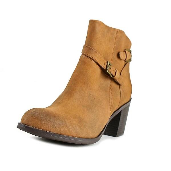 American Rag Peyton Women Round Toe Synthetic Tan Ankle Boot
