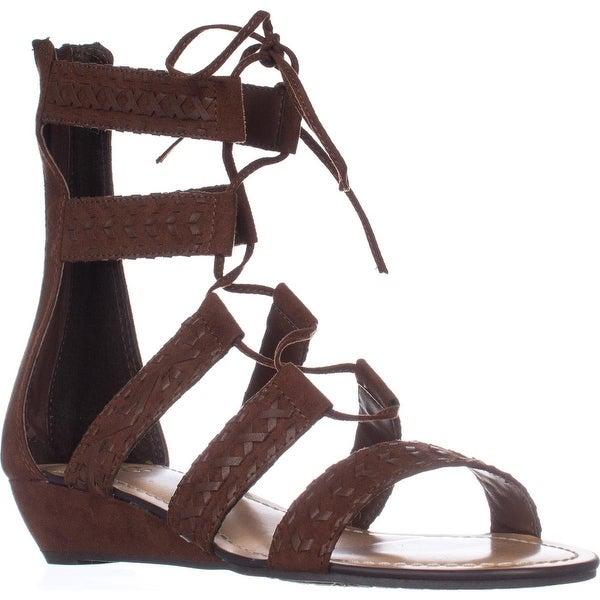 Carlos Carlos Santana Kamilla Flat Lace-up Sandals, Mustang - 9 us / 39 eu