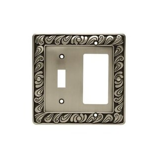 Franklin Brass 64052 Paisley Series Single Switch and Decorator Wall Plate - brushed satin pewter