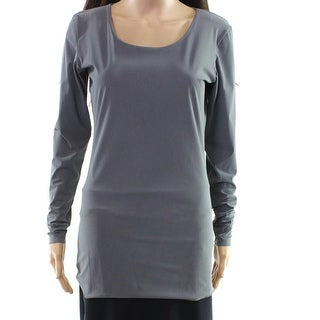 Hope Gray Women's Size XL Scoop Neck Long Sleeve Tunic Blouse