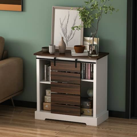 Modern Wood Shoe Cabinet Sliding Door Shoe Cabinet Storage Table