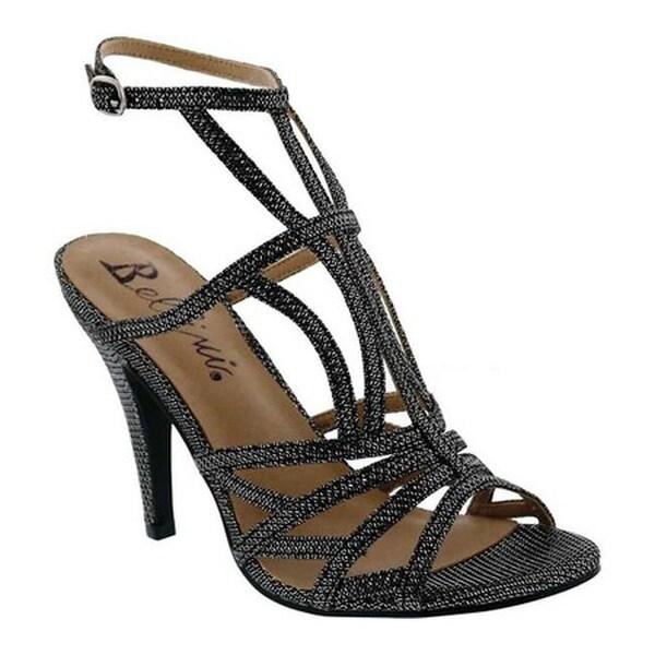 bb19e86bfc72 Shop Bellini Women's Maitai Ankle Strap Sandal Black Glitter - Free ...