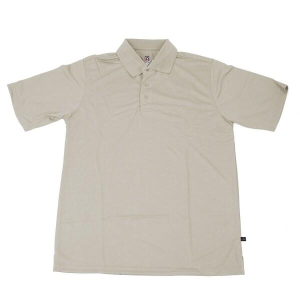PGA TOUR Men's Polo Shirt - Stone Solid - Small