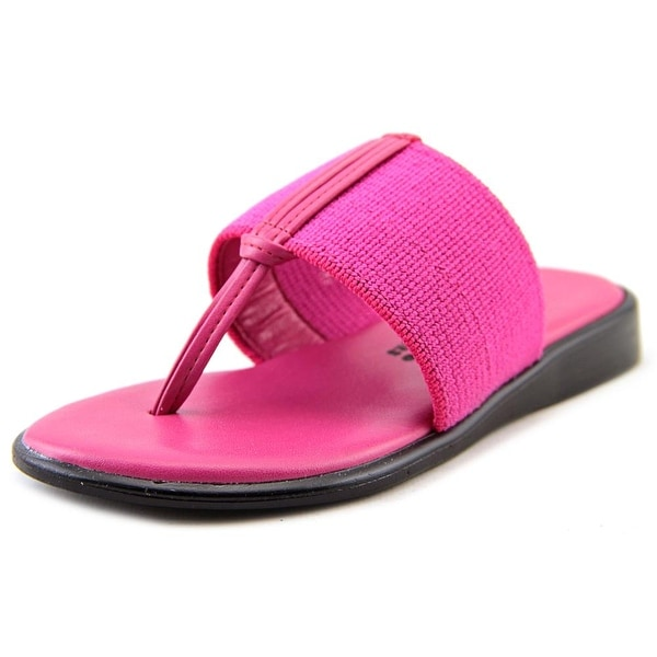 Callisto Pop Youth  Open Toe Canvas Pink Thong Sandal