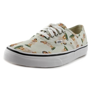 Vans Authentic Women Round Toe Canvas Ivory Sneakers