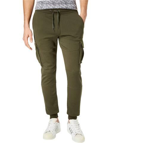 American Rag Mens Knit Cargo Casual Jogger Pants, green, Small