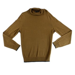 INC NEW Brown Mens Size Large L Knit Long-Sleeve Turtleneck Sweater