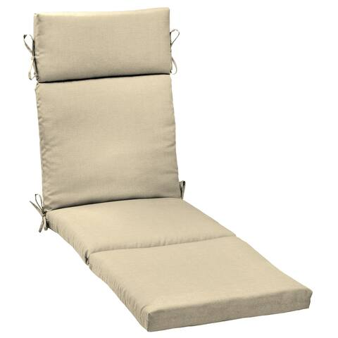 Arden Selections New Tan Leala Textured Outdoor Cartridge Chaise Cushion - 72 in L x 21 in W x 3 in H