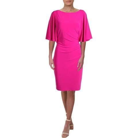 Lauren Ralph Lauren Womens Jessup Cocktail Dress Jersey Short Sleeves