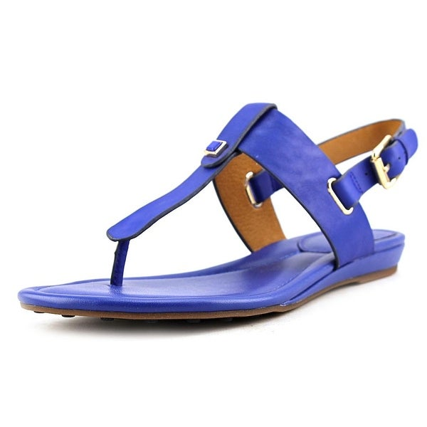 Sofft Alexie Women Open-Toe Leather Blue Slingback Sandal