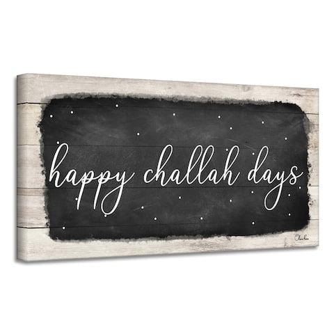 Ready2HangArt 'Happy Challah Days' Hanukkah Canvas Wall Art by Olivia Rose