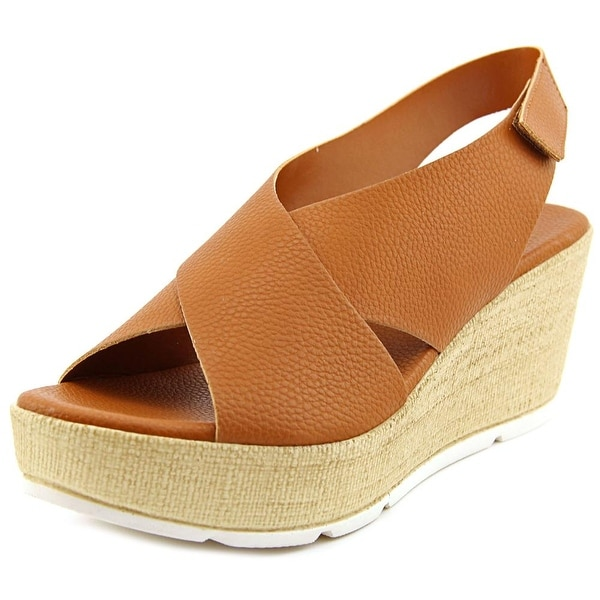 Callisto Callye Women  Open Toe Synthetic Brown Wedge Heel