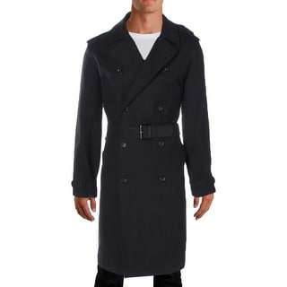 London Fog Mens Plymouth Trench Coat Twill Double Breasted