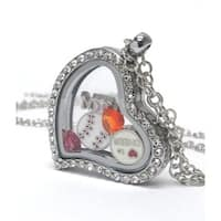 Heart Charm Locket for Baseball