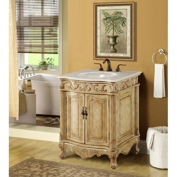 Dallas 27 in. Single Bathroom Vanity Set with Marble Top. Opens flyout.