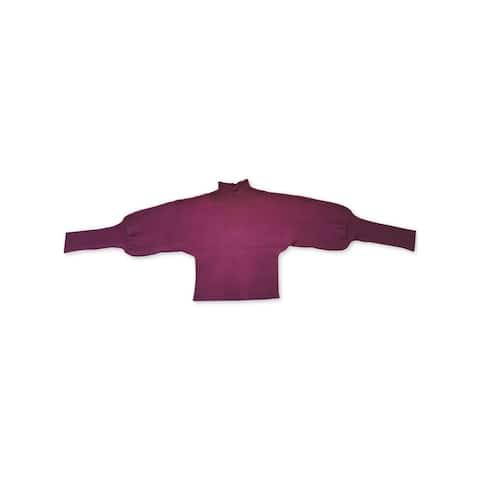 BAR III Womens Purple Dolman Sleeve Crop Top Sweater Size XL