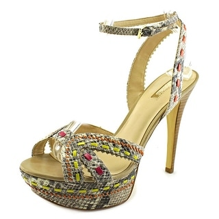 Guess Odonna 2 Peep-Toe Synthetic Heels