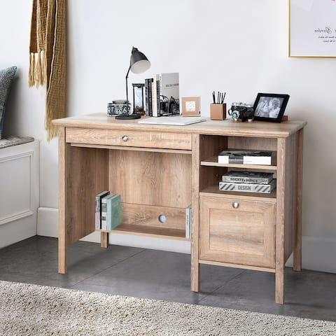 Crestlive Products Writing Computer Desk with Keyboard Tray, Drawer & Shelves