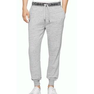 Calvin Klein NEW Gray Heather Mens Size XL Drawstring Fleece Pants