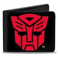 Transformers Autobot Logo Black Red Bi Fold Wallet - One Size Fits most