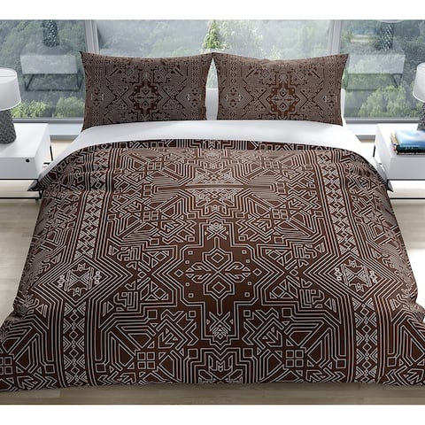 SULTANATE CHOCOLATE Duvet Cover by Kavka Designs