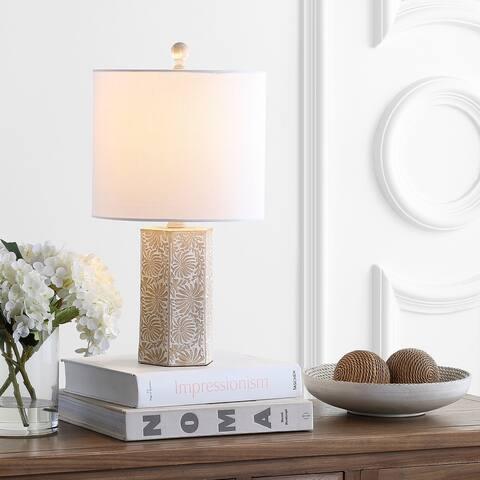 """SAFAVIEH Lighting 19"""" Eliseo LED Table Lamp - 10""""x10""""x18.5"""""""