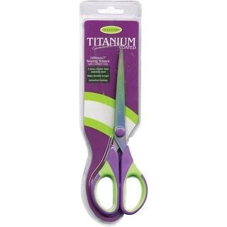 """Titanium Sewing Scissors 7"""" -Purple/Green"""