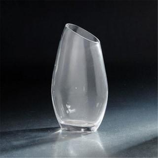 Diamond Star 64008 12 x 3.5 x 7 in. Angled Rim Vase Clear
