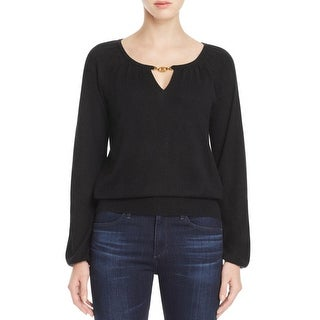 Tory Burch Womens Pullover Sweater Cashmere Keyhole - xL