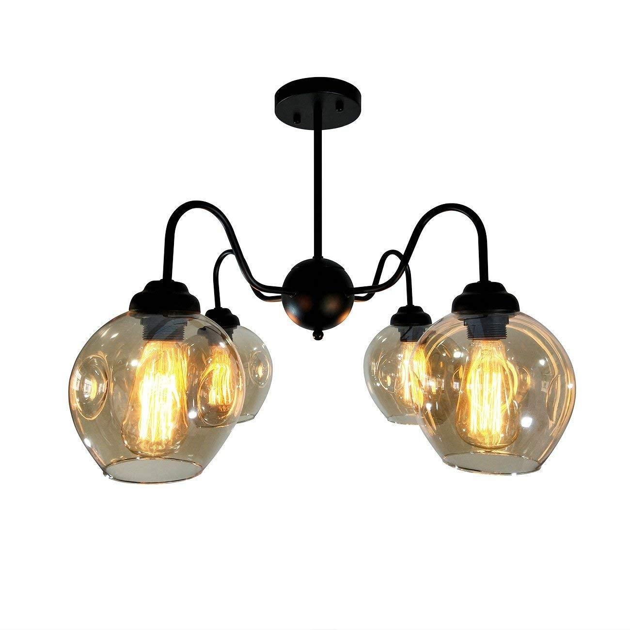 Vintage Industrial Ceiling Light Antique Copper Pendant Lamp Flush mount lamp