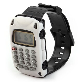 School Detachable Wristband Watch Car Design 8 Digit Electronic Calculator White