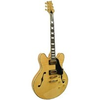Kona Flamed Maple Semi Hollow Body Electric with Custom Fit Case