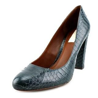 Lauren Ralph Lauren Tal Round Toe Leather Heels