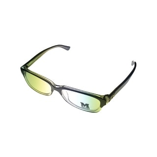 Missoni Opthalmic Unisex Eyeglass Modifed Rectangle Black Clear Plastic MM 012 6 - Medium