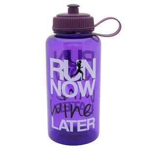 BPA-Free Sports Water Bottle,Tritan Attitude 32 oz. 1 L gym Bike trips, Purple