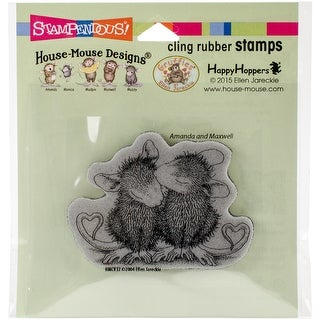 """Stampendous House Mouse Cling Stamp 4.75""""X4.5""""-Valentine Kiss"""