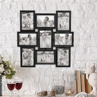 Lavish Home  4 x 6 in. Photos Collage Picture Frame with 9 Openings