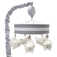 Lambs & Ivy Signature Goodnight Sheep Gray/White Musical Baby Crib Mobile