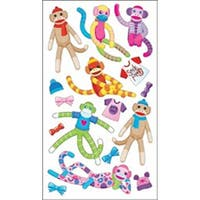 Sock Monkeys - Sticko Classic Stickers