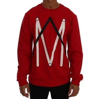 Frankie Morello Frankie Morello Red Cotton Crewneck Pullover Sweater