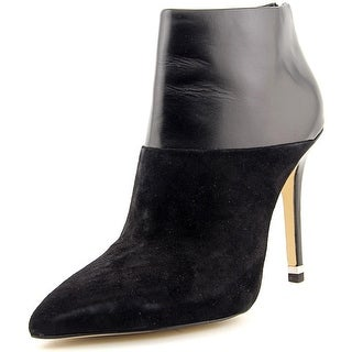 Michael Michael Kors Freya Bootie Women Pointed Toe Leather Black Bootie
