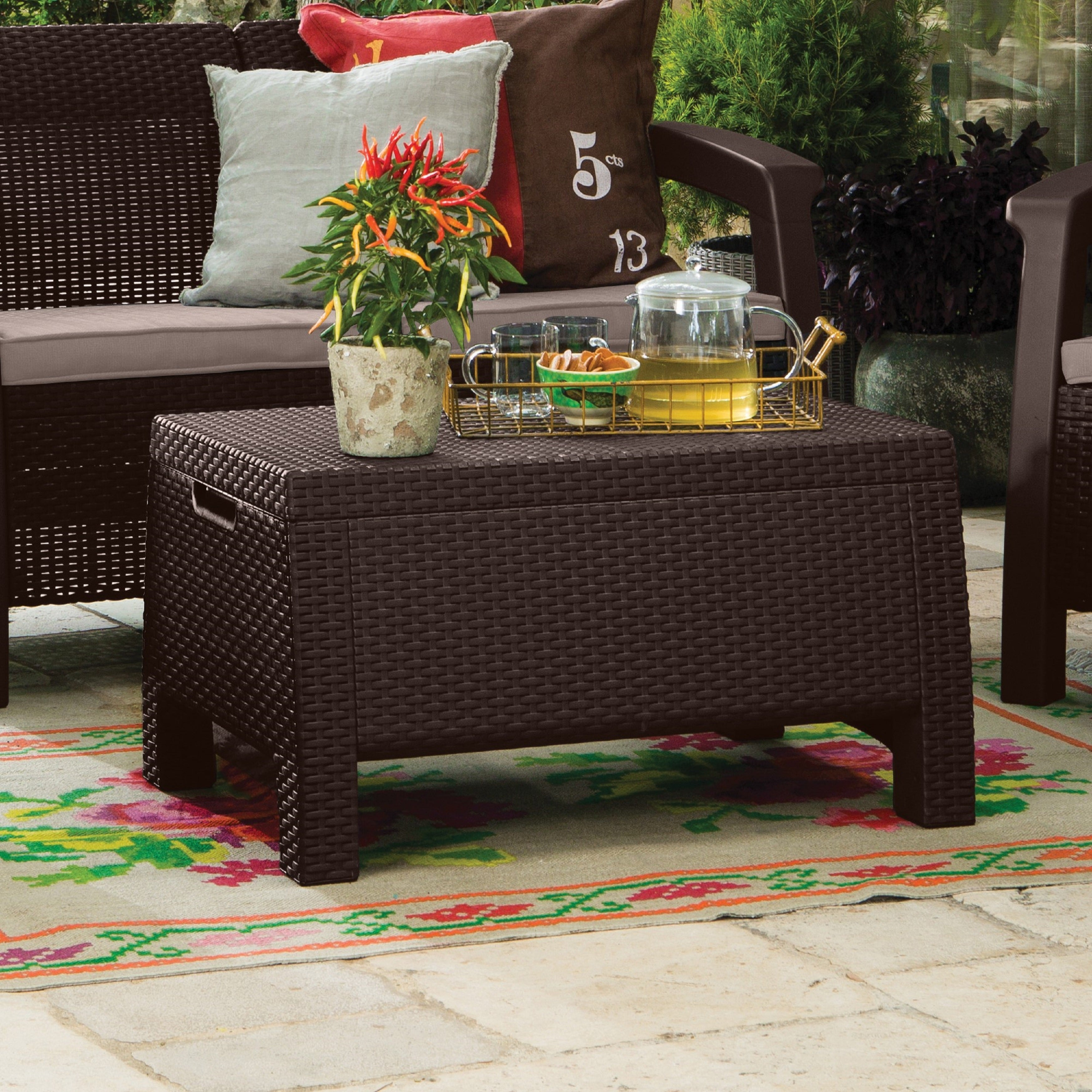 Patio Storage Coffee Table