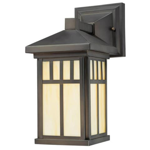 Westinghouse 67328 Burnham One-Light Exterior Wall Lantern, Oil Rubbed Bronze