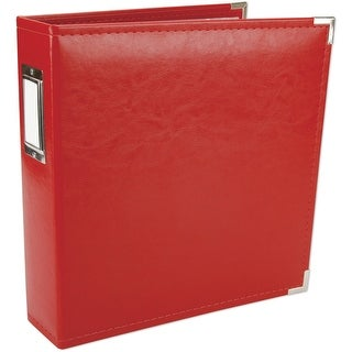 """We R Classic Leather D-Ring Album 8.5""""X11""""-Real Red"""