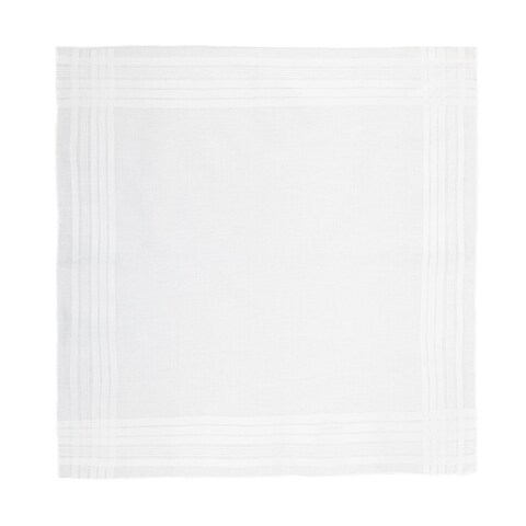 CTM® Men's Cotton Satin Banded Handkerchief - One size