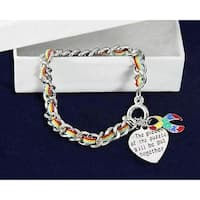 Autism Awareness Ribbon Bracelet-Multi-Colored Rope