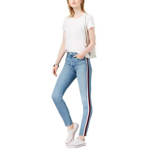 Joe's Womens Charlie Velvet Stripe Skinny Fit Jeans