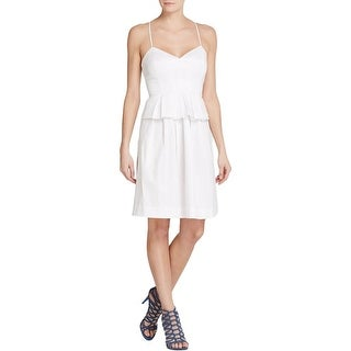 Elizabeth and James Womens Cocktail Dress Satin Peplum - 10